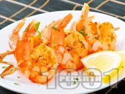 Пържени / бланширани скариди на тиган с къри и лимон - снимка на рецептата